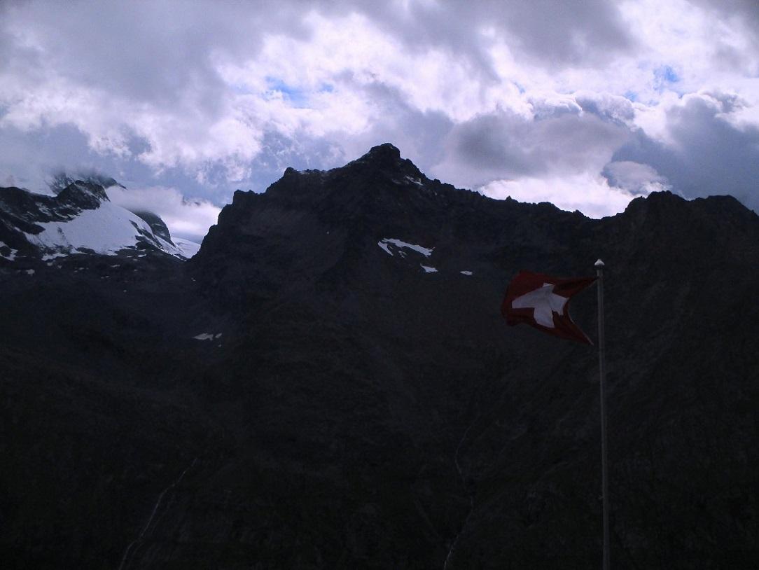 Foto: Andreas Koller / Klettersteigtour / Klettersteig Almagellerhorn (3327m) / Ausstieg im Abstieg / 17.11.2015 01:37:59
