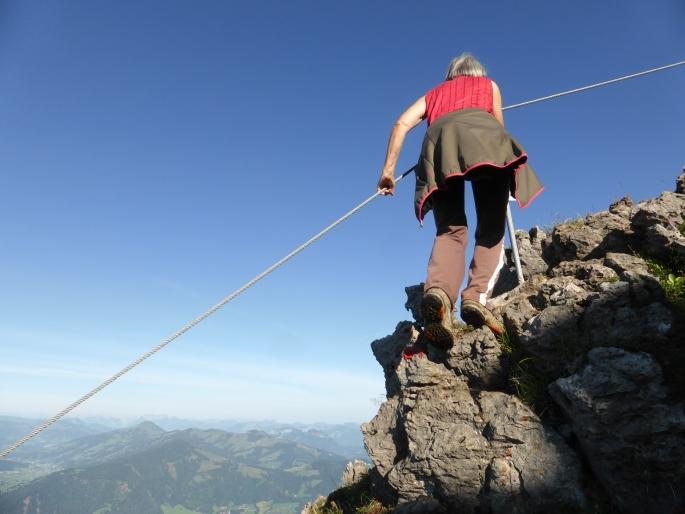 Klettersteig Kitzbüheler Horn : Kurzer anstieg klettersteig kitzbüheler horn bei kitzbühel