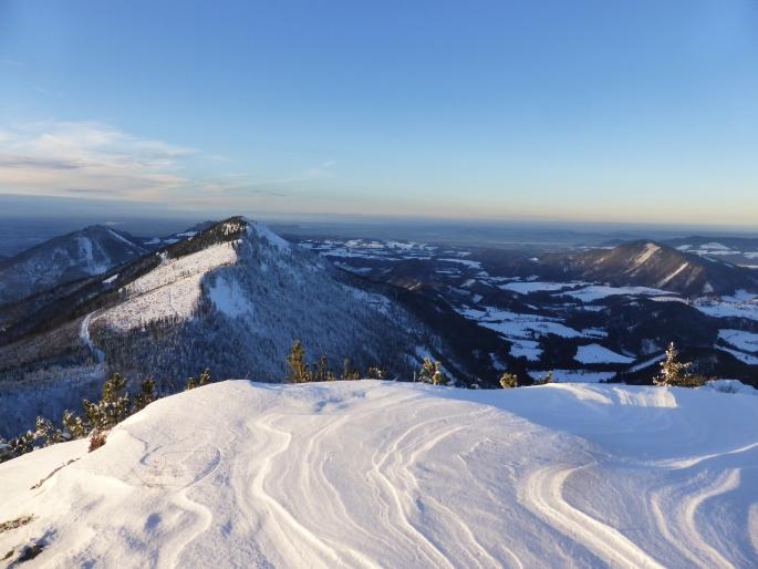 Foto: Manfred Karl / Skitour / Wieserhörndl – Ohne Piste? / Abendstimmung am Gipfel / 25.01.2016 21:19:20