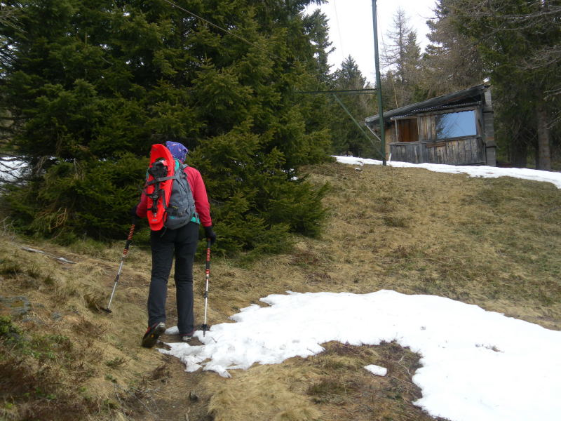 Foto: Wolfgang Lauschensky / Schneeschuhtour / Padauner Kogel 2066m / Meinrads Köpfl mit Hütte / 07.04.2016 00:25:35