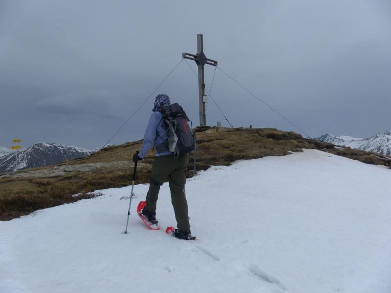 Foto: Wolfgang Lauschensky / Schneeschuhtour / Padauner Kogel 2066m / Gipfelkuppe / 07.04.2016 00:24:51