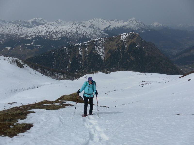 Foto: Wolfgang Lauschensky / Schneeschuhtour / Vennspitze und Padauner Berg / Padauner Kogel vor Stubaier Alpen / 07.04.2016 14:45:53