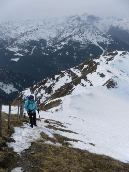 Foto: Wolfgang Lauschensky / Schneeschuhtour / Vennspitze und Padauner Berg / am Westgrat / 07.04.2016 14:45:42