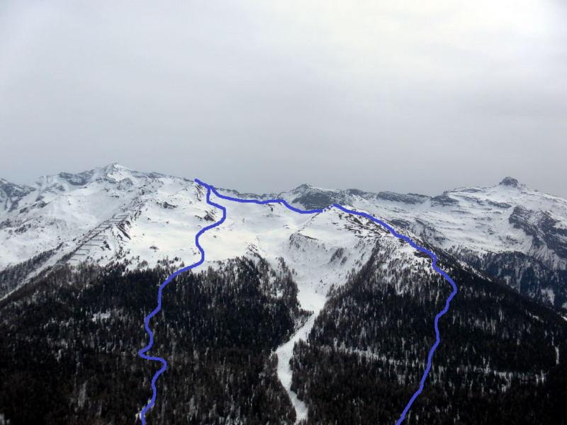 Foto: Wolfgang Lauschensky / Schneeschuhtour / Vennspitze und Padauner Berg / Vennspitze und Padauner Berg vom Padauner Kogel / 07.04.2016 15:07:30