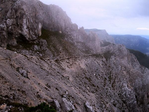 Foto: Andreas Koller / Klettersteig Tour / Bismarcksteig und Predigtstuhl (1902m) / Man erkennt deutlich den Bismarcksteig / 29.04.2016 19:19:00