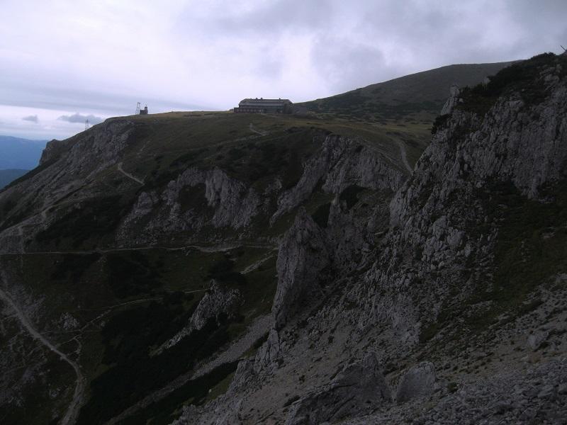 Foto: Andreas Koller / Klettersteig Tour / Bismarcksteig und Predigtstuhl (1902m) / Blick zum Karl Ludwig Haus / 29.04.2016 19:16:52