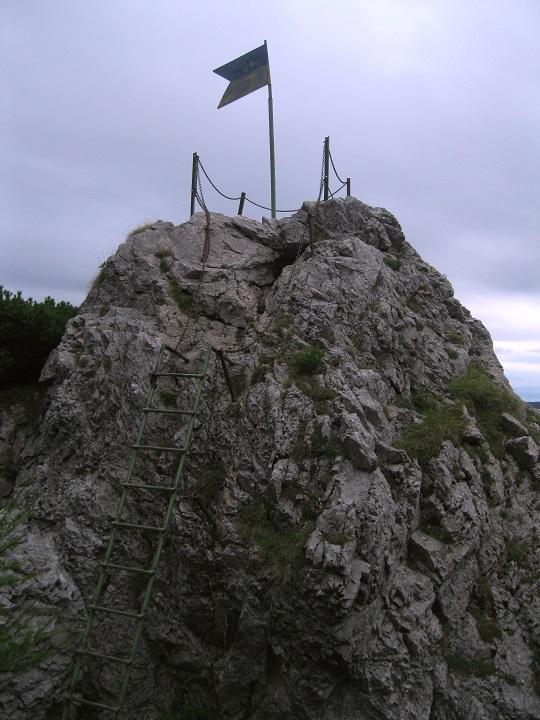 Foto: Andreas Koller / Klettersteig Tour / Bismarcksteig und Predigtstuhl (1902m) / Auf die Felszinne oberhalb des Wyriegelhauses / 29.04.2016 19:11:57