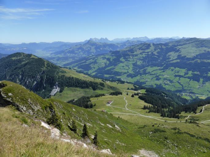 Foto: Manfred Karl / Wandertour / Panoramawanderung Gampenkogel und Fleiding / Loferer und Leoganger Steinberge im Hintergrund / 07.08.2016 19:20:34