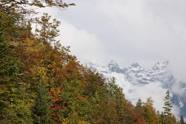 Foto: Werner Kaller / Wandertour / Oberbrunnalm Rundwanderung / Die Karwendelgipfeln / 20.10.2016 11:03:52