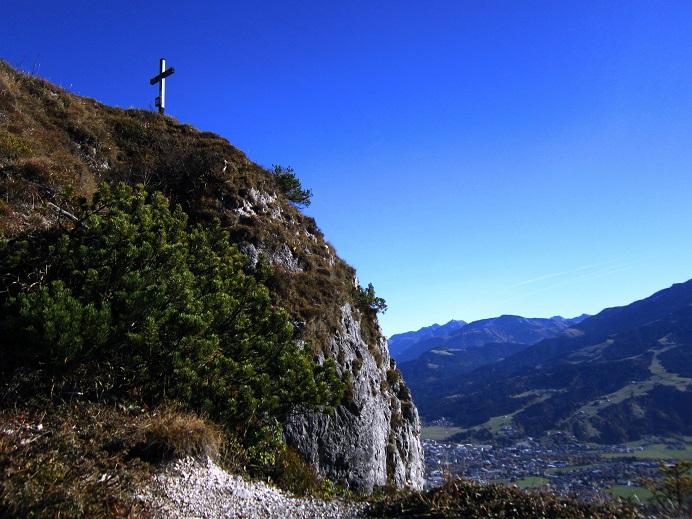 Foto: Andreas Koller / Klettersteig Tour / Maiklsteig und Schatterberg (1274m) / Ursulakreuz / 10.01.2017 02:46:16