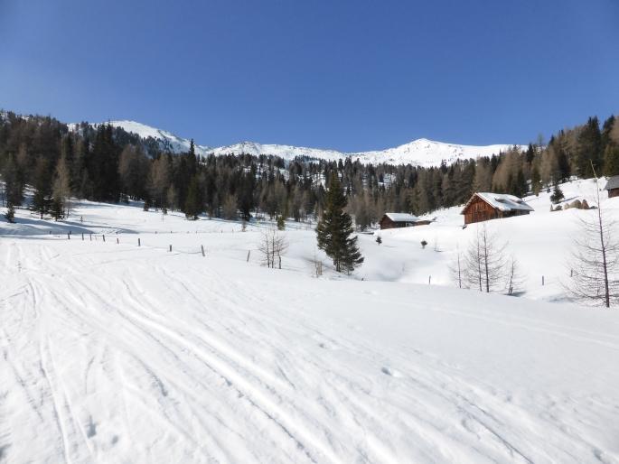 Foto: Manfred Karl / Skitour / Peitlernock von Innerkrems / Der weite Kessel der Bärengrubenalm / 16.01.2017 20:41:13