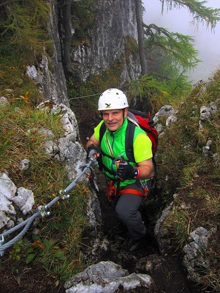 Foto: Andreas Koller / Klettersteigtour / Schützensteig und Jenner (1874m) / Einstieg / 09.03.2017 02:30:17