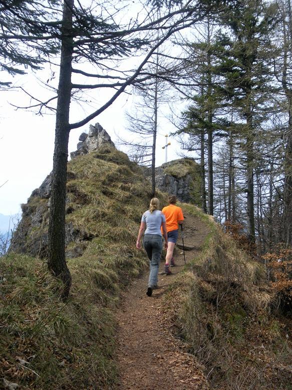 Foto: Wolfgang Lauschensky / Wandertour / Kranzhorn 1368m über Kranzhornsteig / Gipfelrücken / 13.04.2017 21:15:04