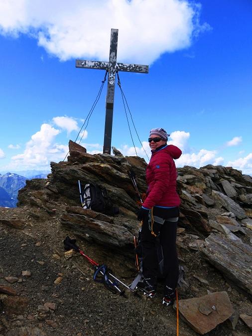 Foto: Andreas Koller / Wandertour / Breiter Grieskogel - eine stille Hochtour (3287m) / Breiter Grieskogel - Gipfelkreuz / 11.08.2017 01:51:52