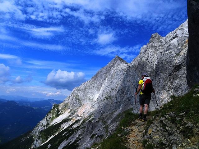 Foto: Andreas Koller / Klettersteigtour / TG Reiter Alpe 1: Klettersteig Mayrbergscharte (2055m) / Kurz vor dem eigentlichen Einstieg / 12.11.2017 00:25:50