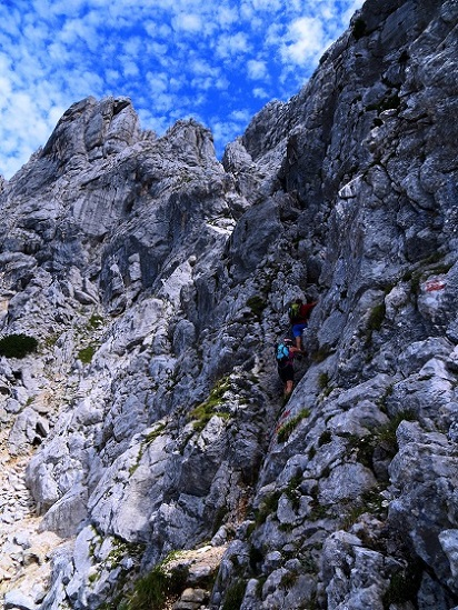 Foto: Andreas Koller / Klettersteigtour / TG Reiter Alpe 1: Klettersteig Mayrbergscharte (2055m) / 12.11.2017 00:25:22