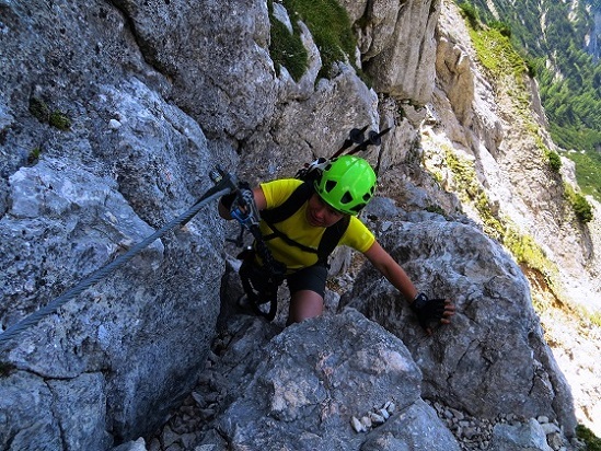 Foto: Andreas Koller / Klettersteigtour / TG Reiter Alpe 1: Klettersteig Mayrbergscharte (2055m) / 12.11.2017 00:24:51