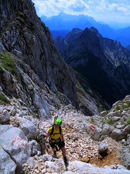 Foto: Andreas Koller / Klettersteigtour / TG Reiter Alpe 1: Klettersteig Mayrbergscharte (2055m) / 12.11.2017 00:24:27