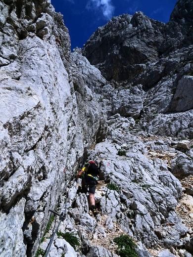 Foto: Andreas Koller / Klettersteigtour / TG Reiter Alpe 1: Klettersteig Mayrbergscharte (2055m) / 12.11.2017 00:24:09