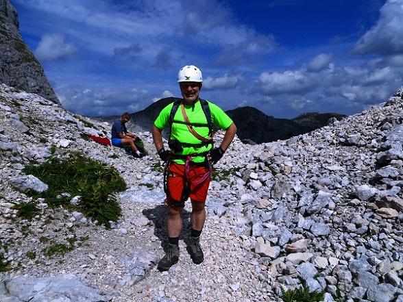 Foto: Andreas Koller / Klettersteigtour / TG Reiter Alpe 1: Klettersteig Mayrbergscharte (2055m) / In der Mayrbergscharte / 12.11.2017 00:23:58