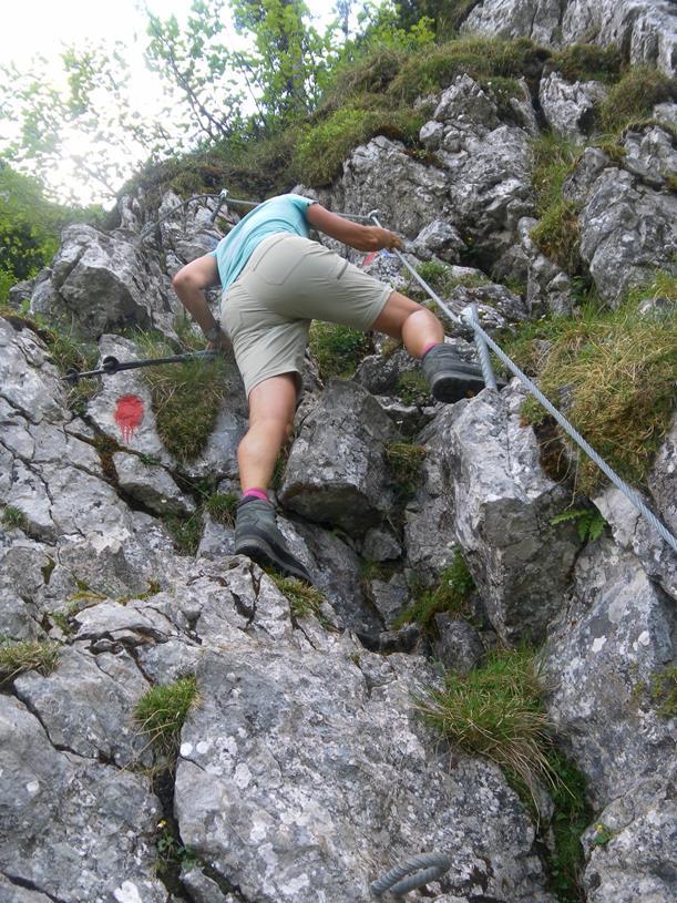 Foto: Wolfgang Lauschensky / Wandertour / Spitzstein Überschreitung via Nordwandsteig von Erl - Bike&Hike / seilgesicherte Felspartien / 13.06.2018 14:10:27
