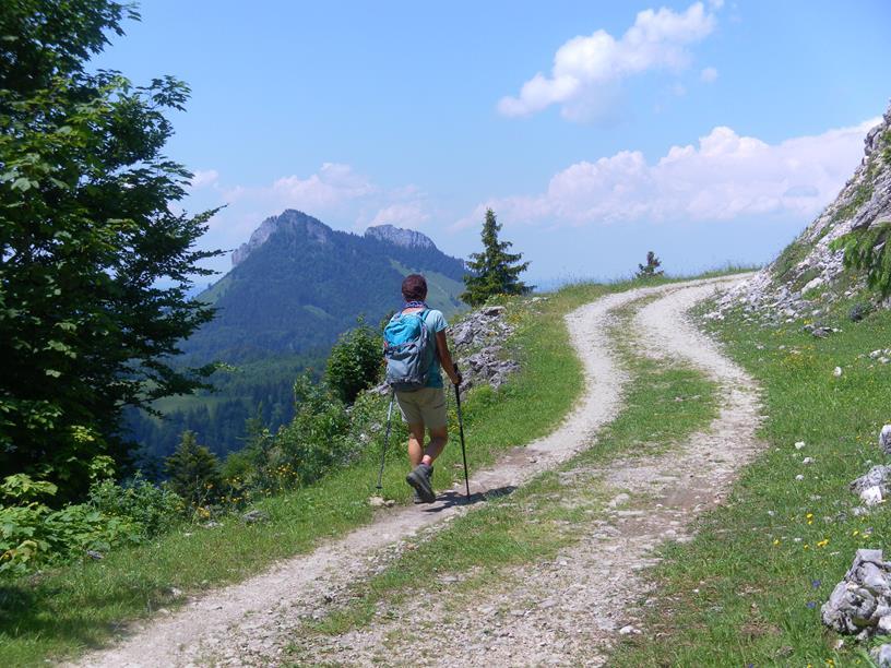 Foto: Wolfgang Lauschensky / Wandertour / Spitzstein Überschreitung via Nordwandsteig von Erl - Bike&Hike / Kitzstein und Wasserwand vom Nesselalmweg / 13.06.2018 14:09:48