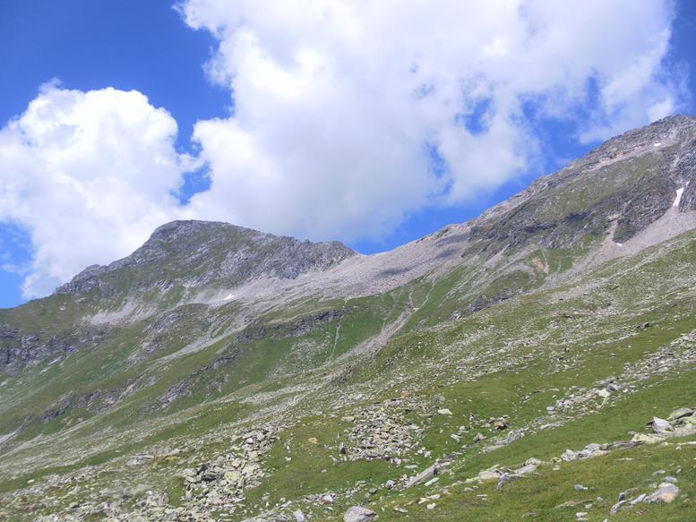 Foto: Wolfgang Lauschensky / Wander Tour / Roßlahnerkopf 2861m von der Thyringer Hütte / Roßlahnerkopf links der Roßlahnerscharte / 04.08.2018 13:56:26