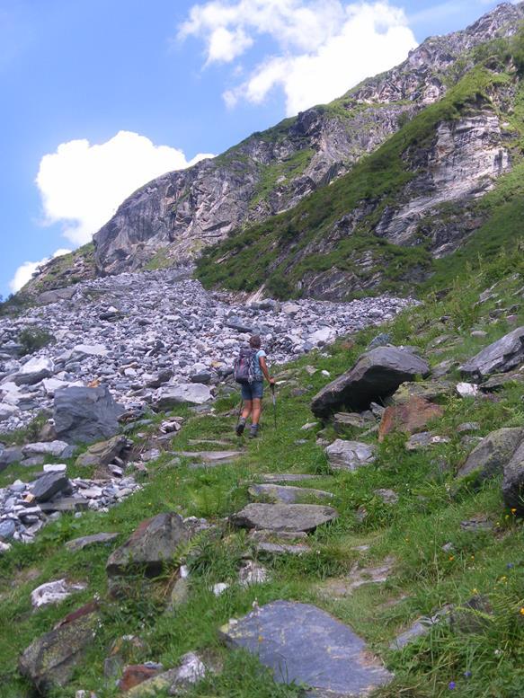 Foto: Wolfgang Lauschensky / Wander Tour / Roßlahnerkopf 2861m von der Thyringer Hütte / Einstieg in den Noitroisteig / 04.08.2018 13:55:54