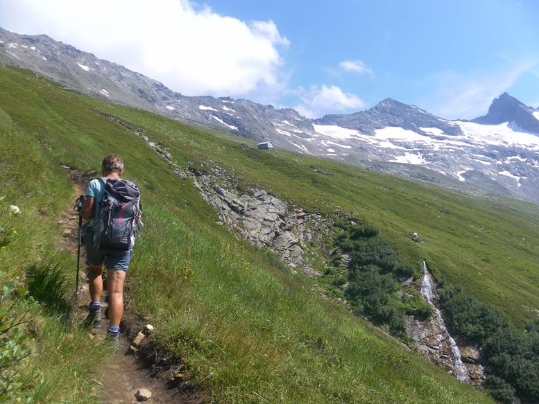 Foto: Wolfgang Lauschensky / Wander Tour / Roßlahnerkopf 2861m von der Thyringer Hütte / Almabflachung vor der Neuen Thyringer Hütte / 04.08.2018 13:55:43
