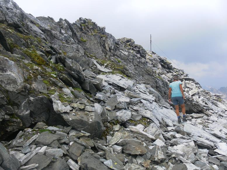Foto: Wolfgang Lauschensky / Wander Tour / Roßlahnerkopf 2861m von der Thyringer Hütte / Abflachung unter dem Gipfel / 04.08.2018 13:55:19