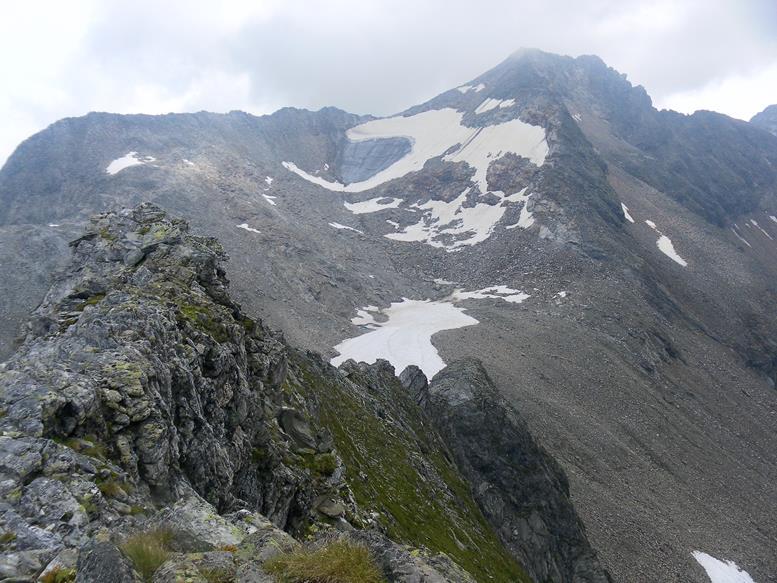 Foto: Wolfgang Lauschensky / Wander Tour / Roßlahnerkopf 2861m von der Thyringer Hütte / Südgrat vor Blessachkopf / 04.08.2018 13:55:11