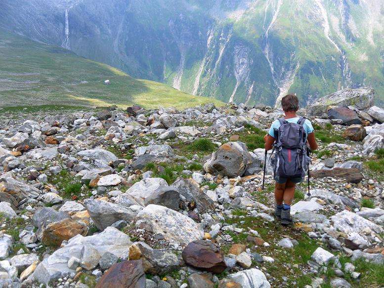 Foto: Wolfgang Lauschensky / Wander Tour / Roßlahnerkopf 2861m von der Thyringer Hütte / Abstieg zur Neuen Thyringer Hütte / 04.08.2018 13:54:55