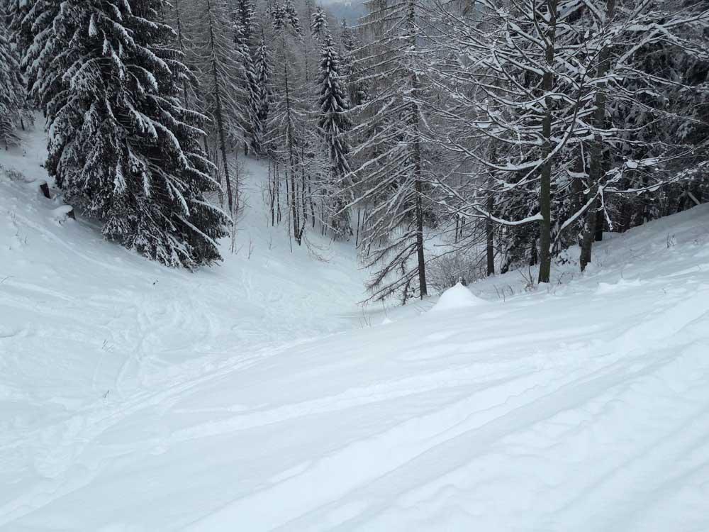 Foto: Rupert Gredler / Skitour / Spielberg, eine rustkale Variante / in den Graben / 18.12.2018 18:00:07