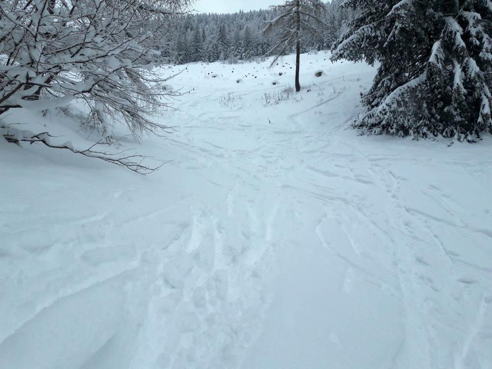 Foto: Rupert Gredler / Skitour / Spielberg, eine rustkale Variante / vorm Graben / 18.12.2018 17:59:39