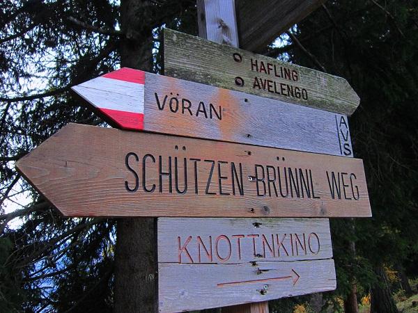 Foto: Andreas Koller / Wander Tour / Ausflug zur Leadner Alm (1530m) / Abzweigung Schützenbrünnlweg / 09.01.2019 02:32:53
