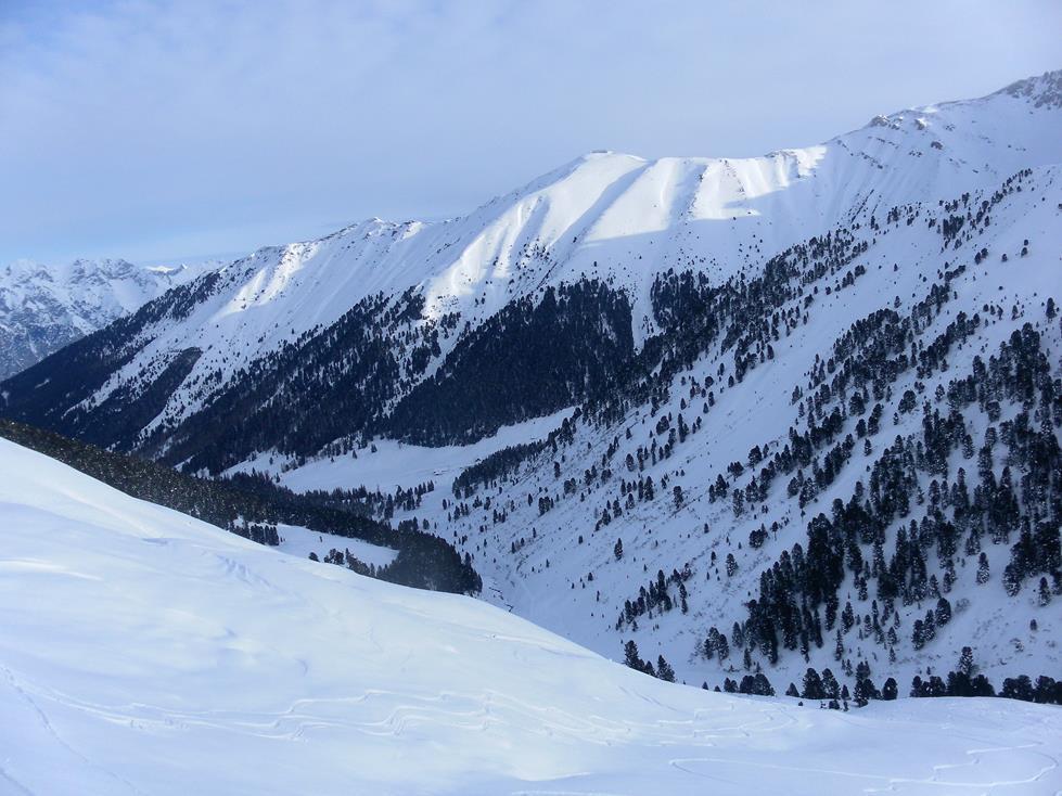 Foto: Wolfgang Lauschensky / Skitour / Angerbergkopf und Schaflegerkogel von der Kemater Alm / Kemateralm unter dem Hoadl / 26.01.2019 11:29:34