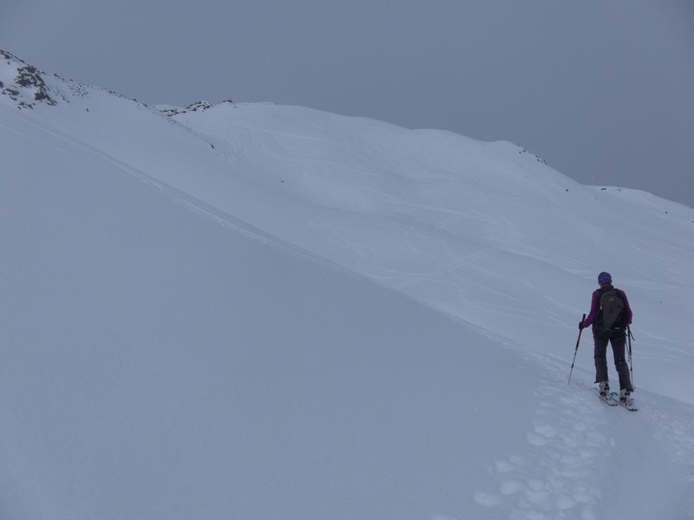 Foto: Wolfgang Lauschensky / Skitour / Angerbergkopf und Schaflegerkogel von der Kemater Alm / Gipfelkar / 26.01.2019 11:29:27