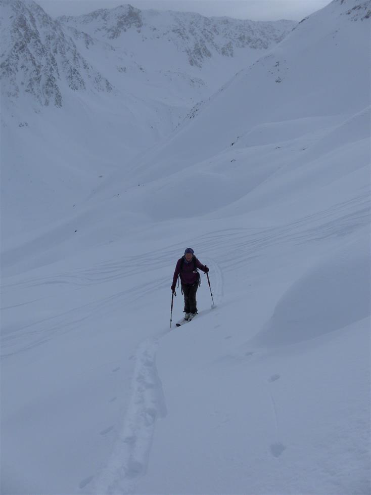 Foto: Wolfgang Lauschensky / Skitour / Angerbergkopf und Schaflegerkogel von der Kemater Alm / Muldenanstieg zum Schaflegerkogel / 26.01.2019 11:29:15
