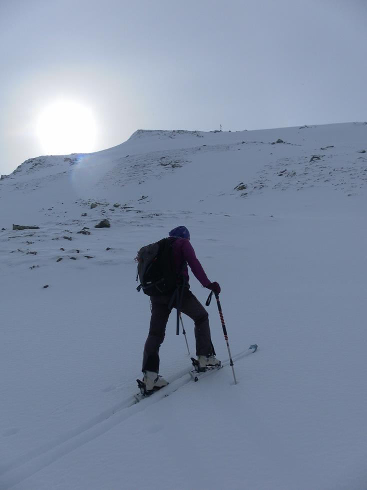 Foto: Wolfgang Lauschensky / Skitour / Angerbergkopf und Schaflegerkogel von der Kemater Alm / Gipfelhang / 26.01.2019 11:29:04