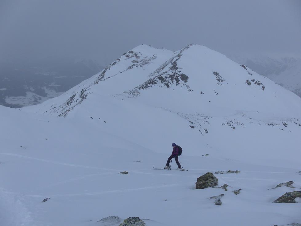 Foto: Wolfgang Lauschensky / Skitour / Angerbergkopf und Schaflegerkogel von der Kemater Alm / Verbindungskamm zum Angerbergkopf / 26.01.2019 11:28:57