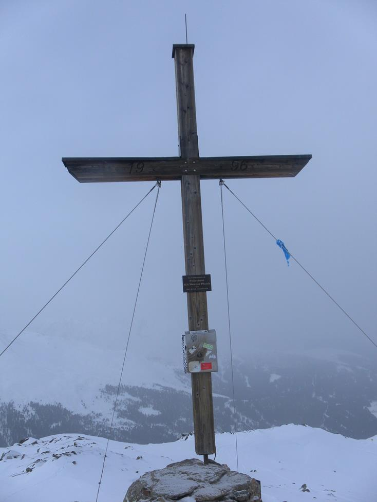 Foto: Wolfgang Lauschensky / Skitour / Angerbergkopf und Schaflegerkogel von der Kemater Alm / Schaflegerkogel - Gipfelkreuz / 26.01.2019 11:28:50