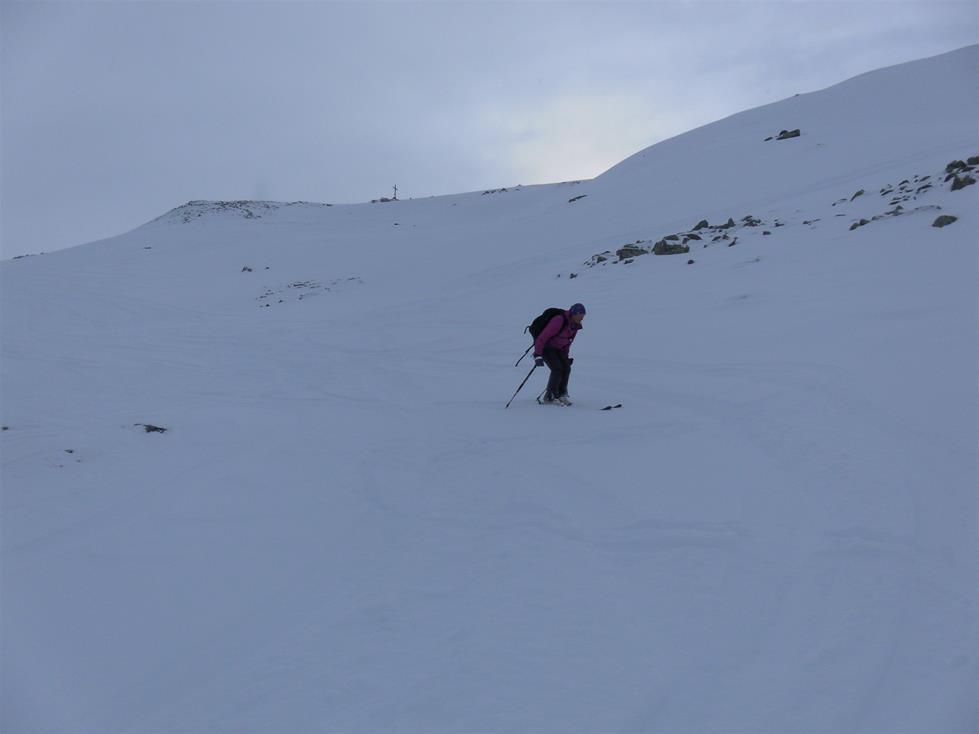 Foto: Wolfgang Lauschensky / Skitour / Angerbergkopf und Schaflegerkogel von der Kemater Alm / Muldenabfahrt / 26.01.2019 11:28:41