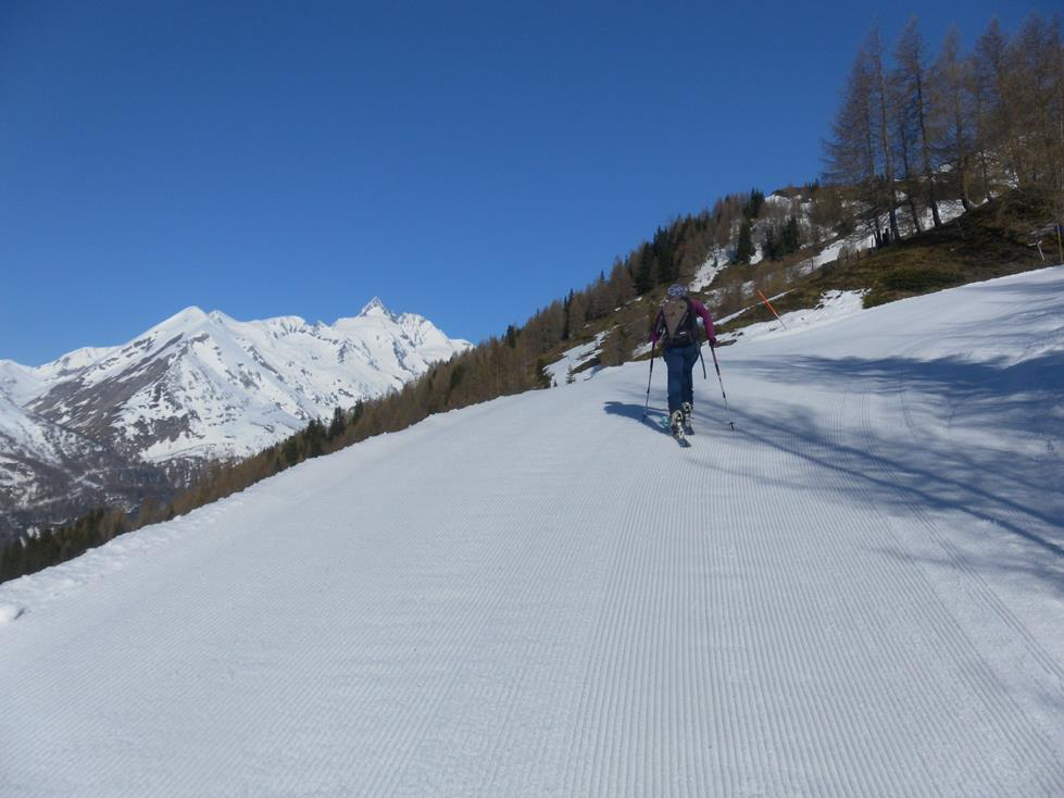 Foto: Wolfgang Lauschensky / Skitour / Roßschartenkopf über Schareck / Glocknerblick oberhalb der Roßbachstation / 26.04.2019 17:34:15