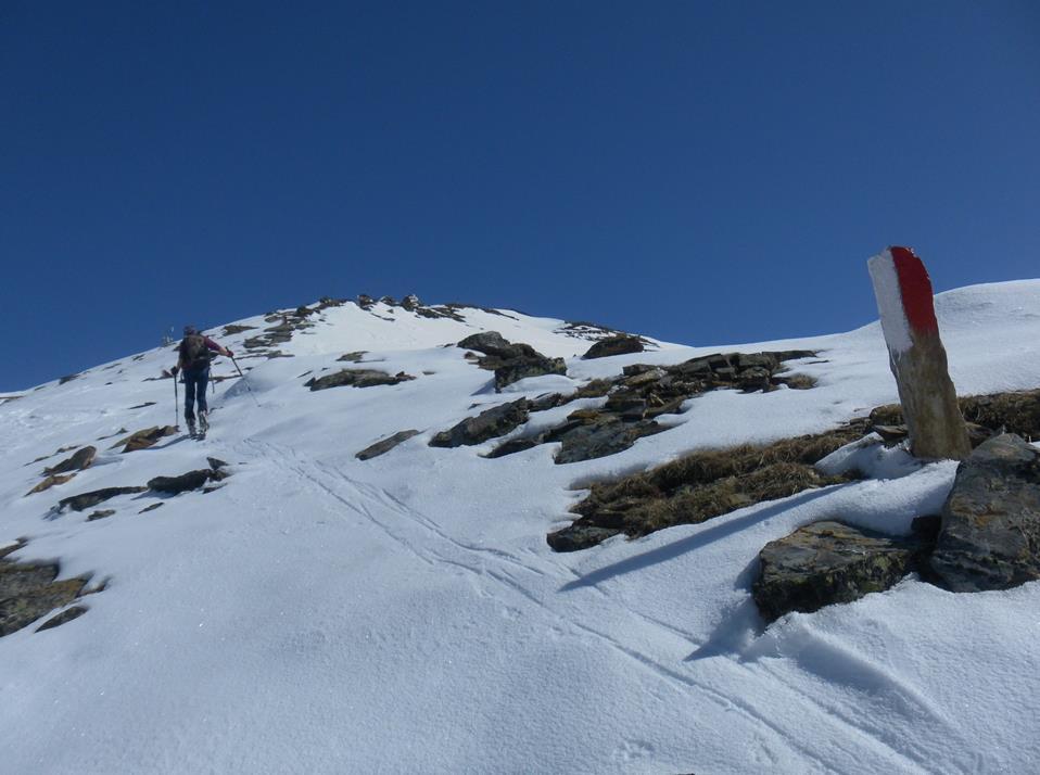 Foto: Wolfgang Lauschensky / Skitour / Roßschartenkopf über Schareck / Gipfelgrat / 26.04.2019 17:33:39