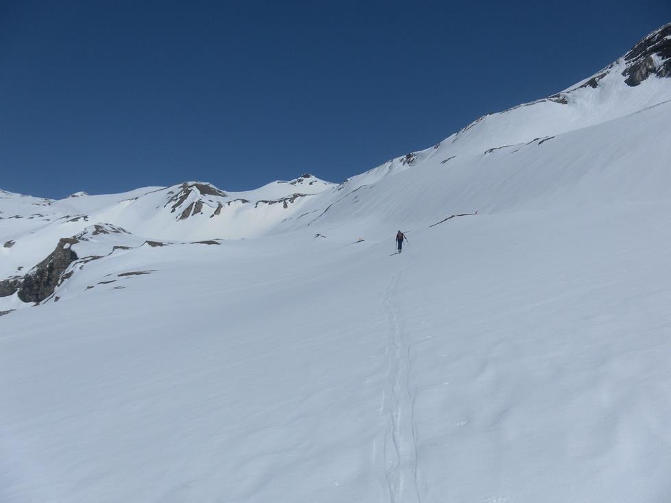 Foto: Wolfgang Lauschensky / Skitour / Roßschartenkopf über Schareck / in der Rampe / 26.04.2019 17:33:15