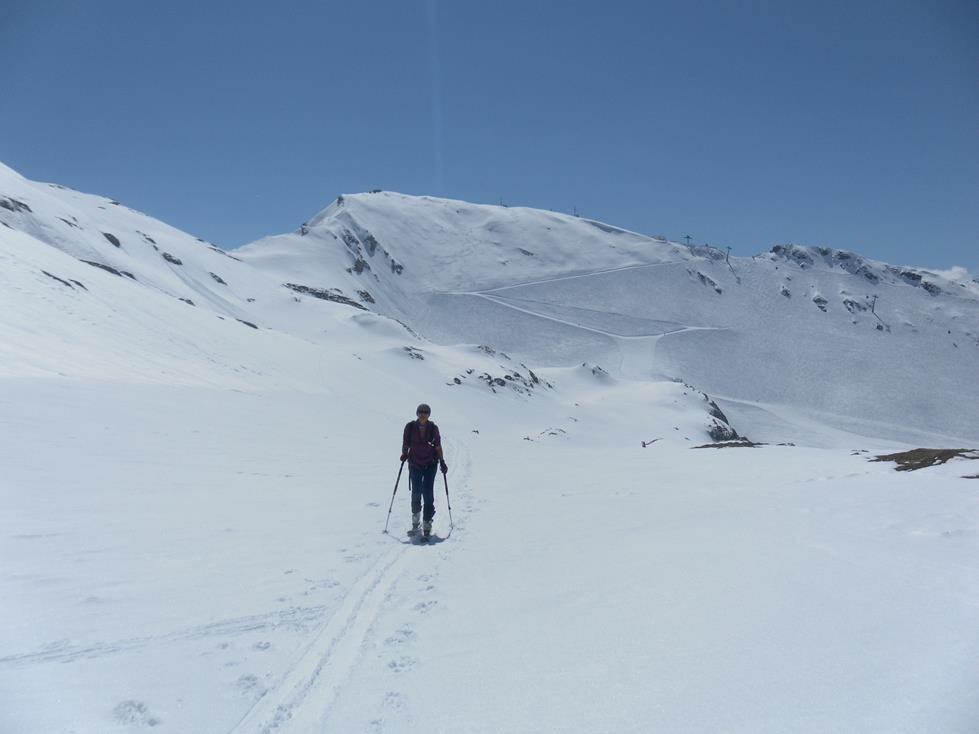 Foto: Wolfgang Lauschensky / Skitour / Roßschartenkopf über Schareck / Schareck Nordflanke aus der Rampe / 26.04.2019 17:33:10