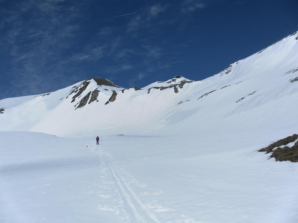 Foto: Wolfgang Lauschensky / Skitour / Roßschartenkopf über Schareck / Abfahrt zur Rampe / 26.04.2019 17:32:39