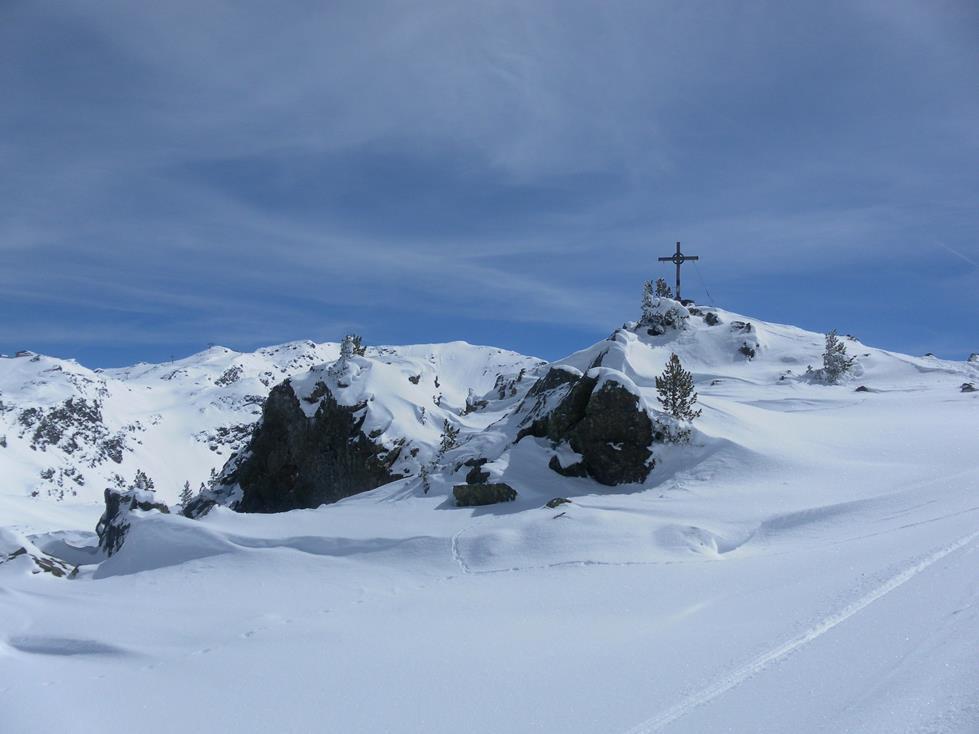Foto: Wolfgang Lauschensky / Ski Tour / Kreuzjoch über Karspitze / Karspitze, links dahinter Kreuzjoch / 11.05.2019 14:44:01