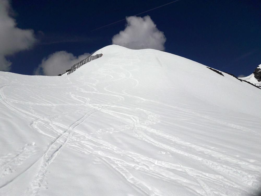 Foto: Rupert Gredler / Skitour / Seekareck frühsommerlich / Kurz oberhalb der Bergstation / 20.06.2019 16:53:20