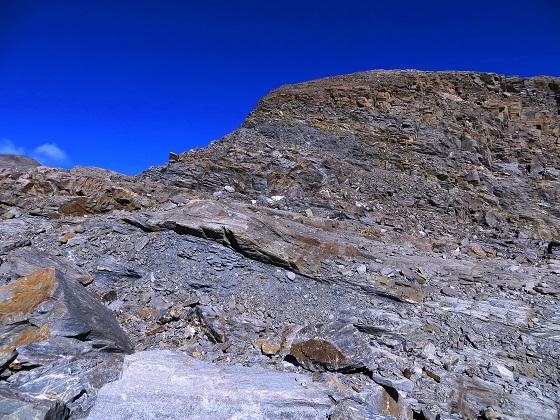 Foto: Andreas Koller / Wandertour / Über leichte Gletscher auf den Breitkopf (3154m) / Blick zum Gratabschnitt / 30.11.2019 01:12:06